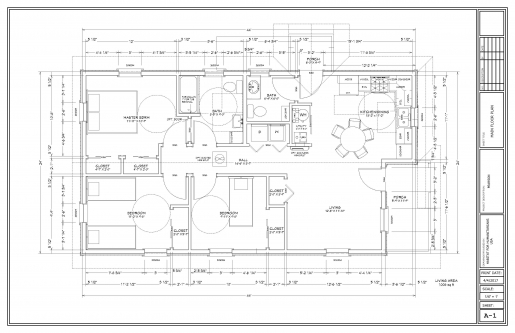 Sample house floor plan