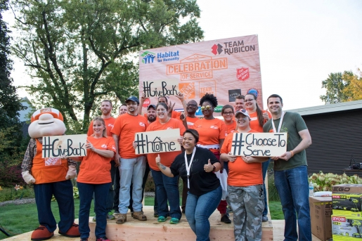 Home Depot and Team Rubicon work with Habitat for Humanity of Kent County